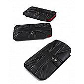 Leather Union Jack Slip Pouch Black