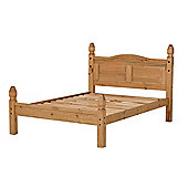"Home Essence Corona Low Foot End Bed Frame - Double (4' 6"")"