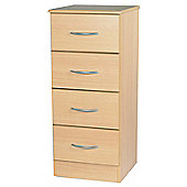 Welcome Furniture Avon 4 Drawer Chest with Locker - Light Oak