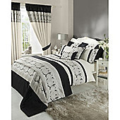 Catherine Lansfield Isadora King Size Quilt Set Black