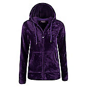 Mountain Warehouse Snaggle Womens Hooded Fleece - Purple