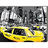 New York City Rush Hour in Times Square Large Canvas Print