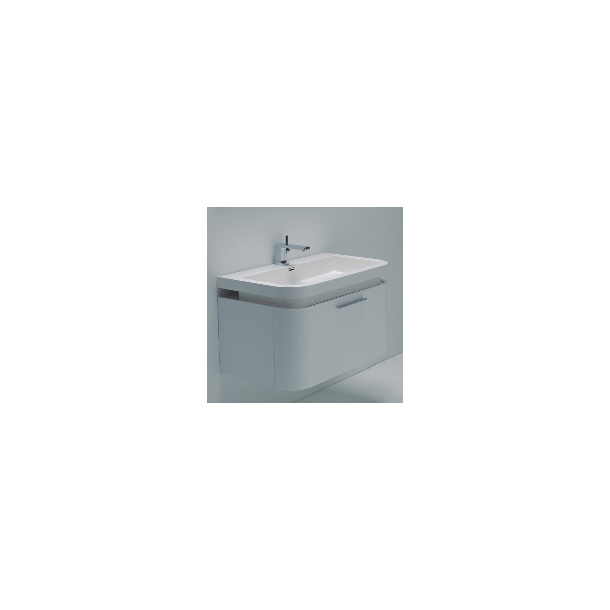 Durab Sienna Bathroom WHITE Vanity Unit (Wall Mounted) including Basin 900mm Wide x 500mm Deep