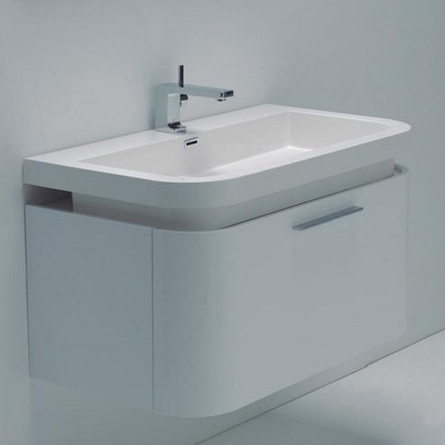 Buy Durab Sienna Bathroom White Vanity Unit Wall Mounted Including Basin 900mm Wide X 500mm
