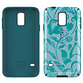 Speck Samsung Galaxy S5 CandyShell Inked WallFlowers Blue/Atlantic Blue