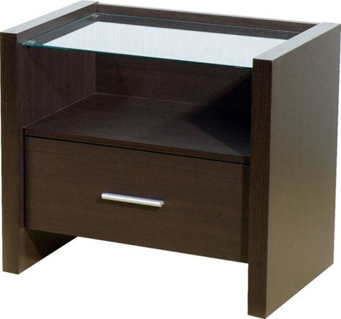 Home Essence Braemar 1 Drawer Bedside Table