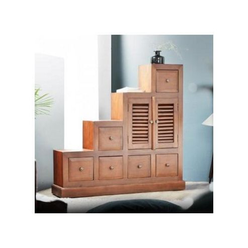 Tikamoon Loggia 6 Drawers and 2 Doors Chest