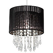 Endon Lighting Non Electric Pendant Light with Clear Acrylic Droplets - Black