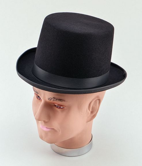 Top Hat. Black Felt /Best (B25)