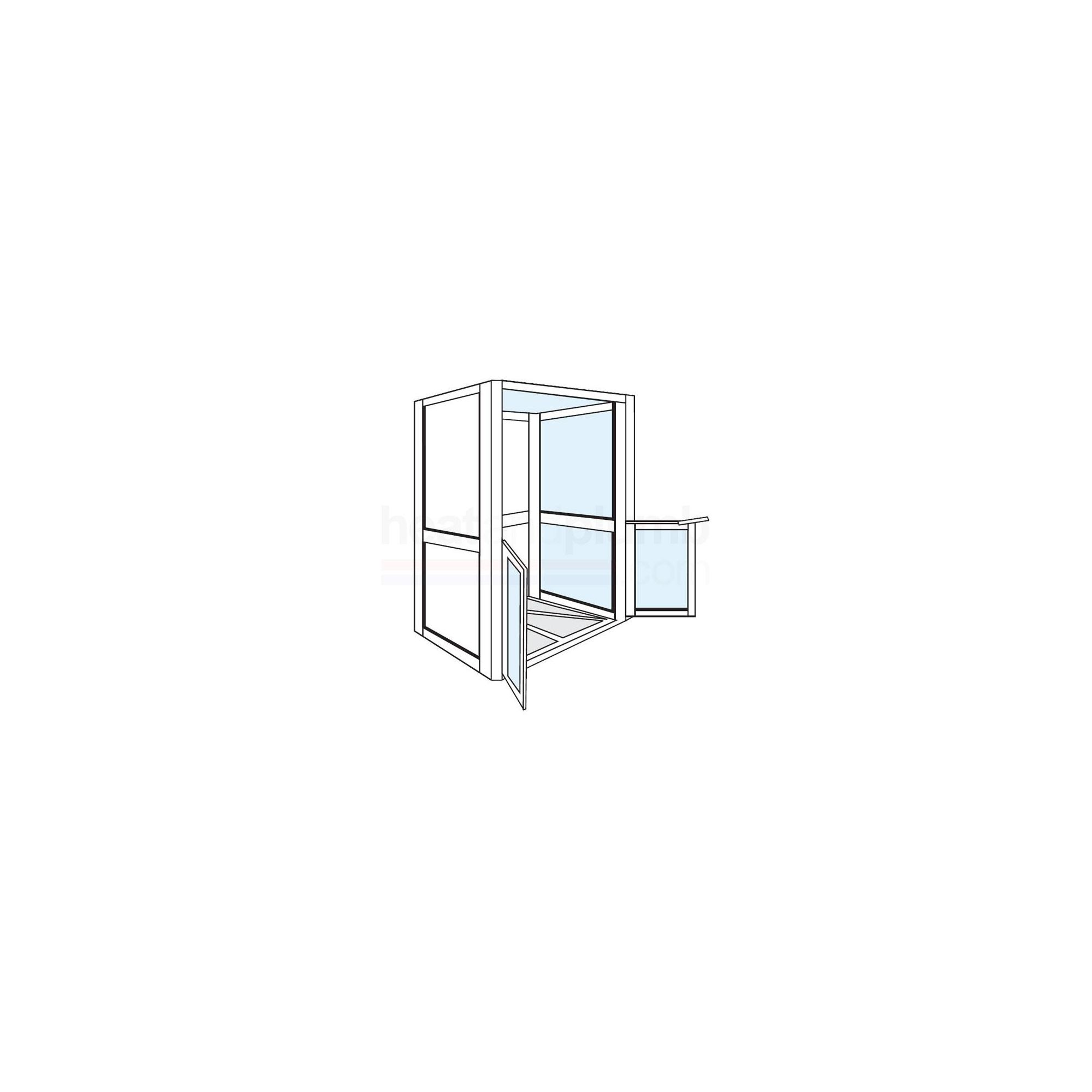 AKW Standalone Shower Cubicle 1200mm x 700mm with Both Sides Closed at Tescos Direct