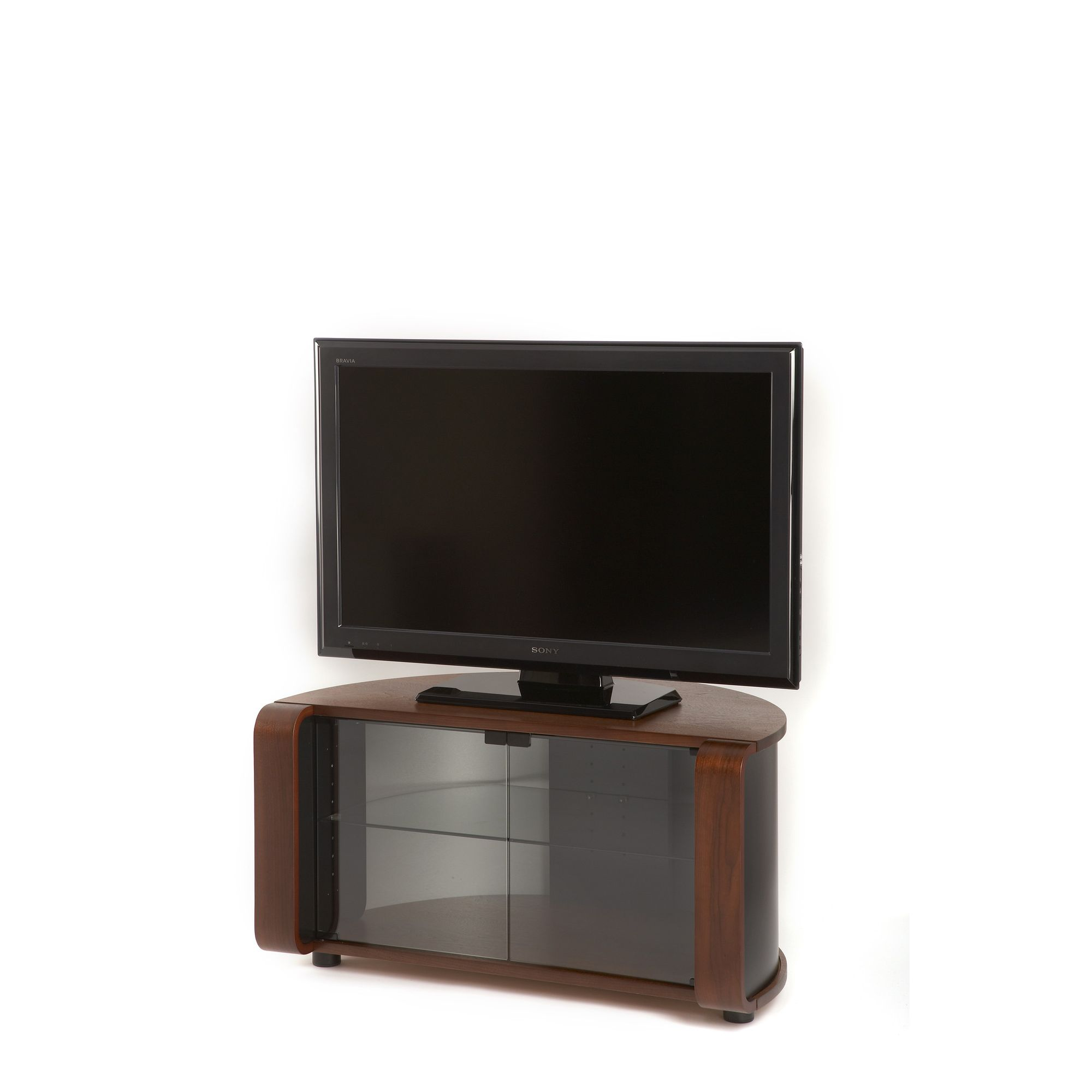 Off The Wall ProfileTV Stand - Walnut Veneer at Tescos Direct