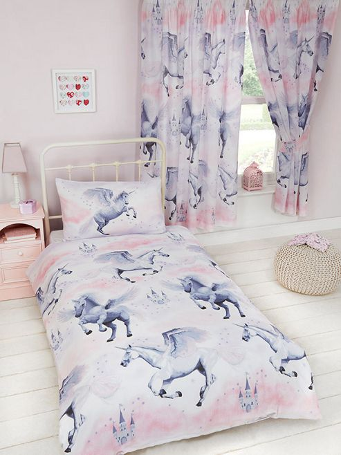 buy stardust unicorn single duvet cover set from our kids. Black Bedroom Furniture Sets. Home Design Ideas