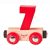 Bigjigs Rail BR137 Name Number 7 (Colours Vary)