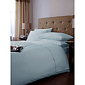 Luxury Hotel Collection 500 TC King Size Flat Sheet Pair Soft Blue