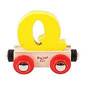 Bigjigs Rail Rail Name Letter Q (Yellow)
