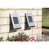 Greenhurst Solar Wall Lights - 2pc