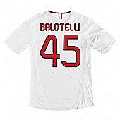 2013-14 AC Milan Away Shirt (Balotelli 45) - White