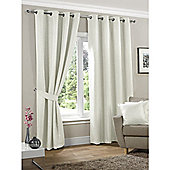 KLiving Neva Blackout Eyelet Curtains 65x72 - Cream (163x183cm)