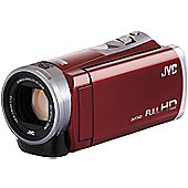 JVC GZ-E305 SD Camcorder Red FHD SDXC 40xZoom 3.0TouchLCD