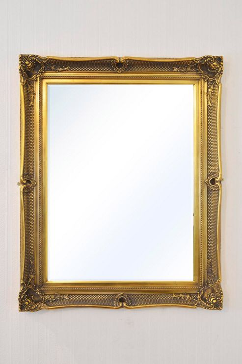 Buy large gold antique shabby chic wall mirror 4ft3 x 3ft5 for Miroir 130 x 40