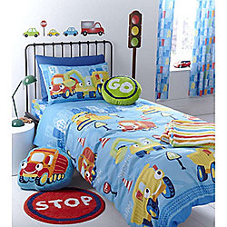 Catherine Lansfield Home Kids Trucks Single Bed Fitted Sheet Multi