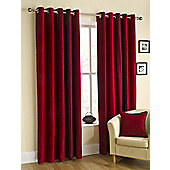 Puerto Ready Made Eyelet Curtains - Fully Lined - Mink, Pewter, Natural & Wine - Red