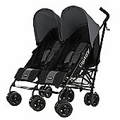 Obaby Apollo Black & Grey Twin Stroller - Grey