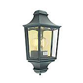Norlys Turin Outdoor Half Wall Lantern - Verdigris