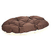 P & L Superior Pet Beds Machine Washable Oval Dog Mattress - Brown / Oatmeal - 1 (10cm H x 50cm W x 60cm D)