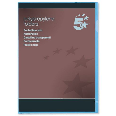 5 Star Folder Cut Flush Polypropylene Copy-safe [Pack 25]