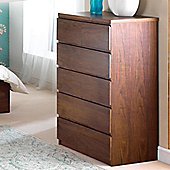 Home Zone Halvern Chest Cabinet in Walnut
