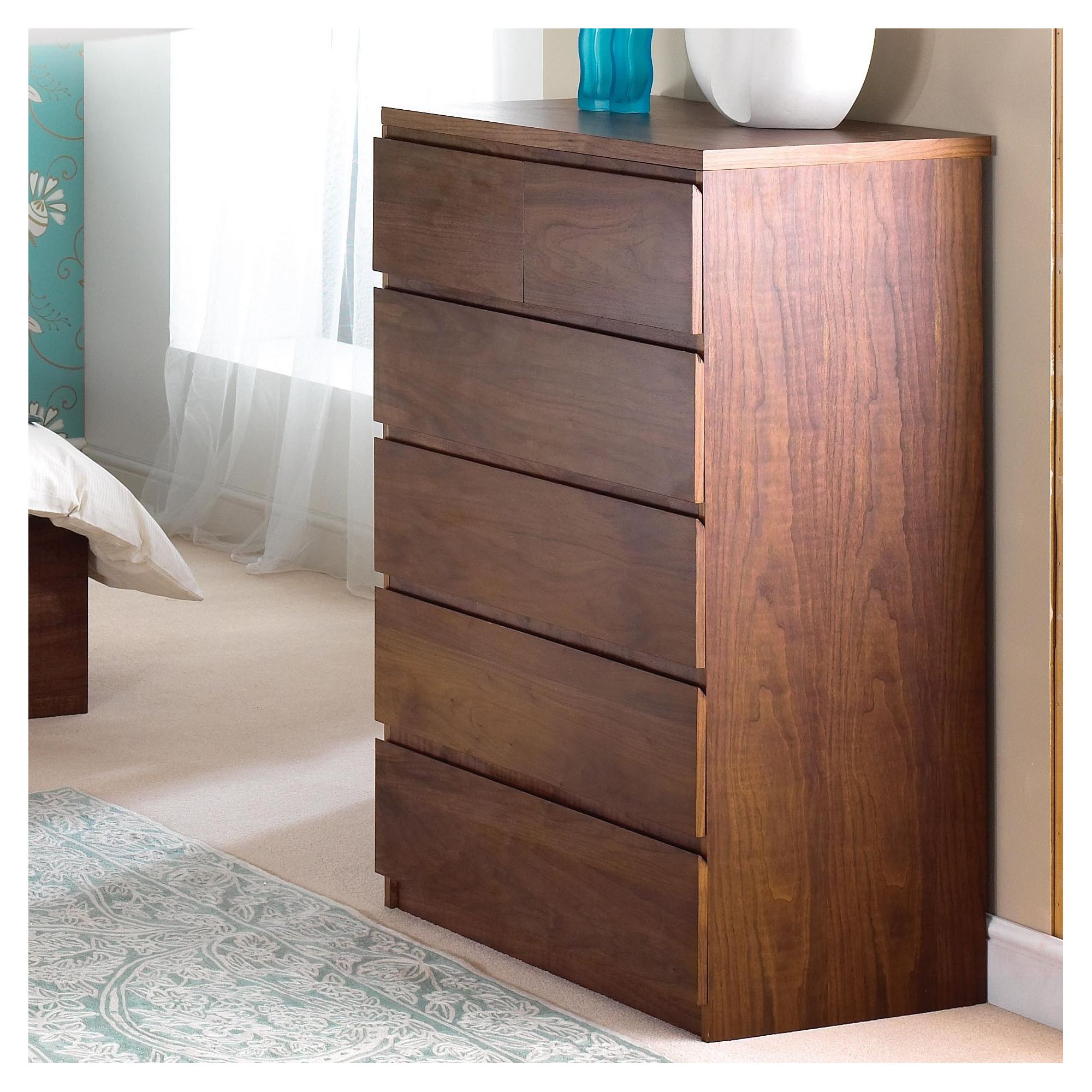 Home Zone Halvern Chest Cabinet in Walnut at Tesco Direct