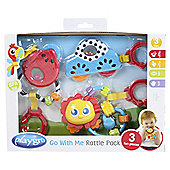 Playgro Go with Me Rattle Pack , Bright Colours