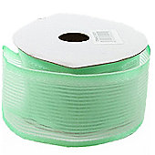 Ribbon Organza Stripe Sheer Ribbon - Mint Green - 25m