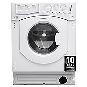 Hotpoint BHWM1292 Built-in Washing Machine, 7Kg Wash Load, 1200 RPM Spin, A++ Energy Rating, White