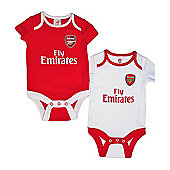 Arsenal Baby Core Kit 2 Pack Bodysuits - 2016/17 - Red & White