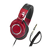 Audio Technica M50 Professional Studio Monitor Headphones, Red
