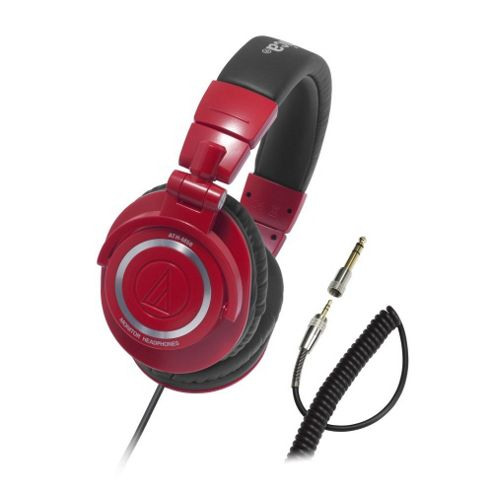 Audio Technica M50 Professional Studio Monitor Headphones, Red