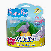 Peppa Pig Weebles Wobbily Figure and Base - Emily Elephant