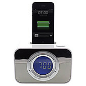 Kitsound iPod Clock Radio Dock White