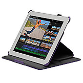 Navitech - Purple tri - fold Stand Case For Apple iPad 2 3 & 4 Generation