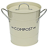 VICTOR Compost Bucket with Liner in Champagne
