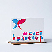 Yellow Owl Workshop Card - Merci Beaucoup