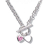 Jo for Girls Double Heart Toggle Necklace