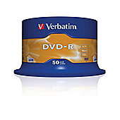 Verbatim DVD-R 4.7GB 16x Matt Silver (Pack of 50)