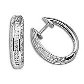 Jewelco London 18 Carat White Gold 85pts Diamond Earrings