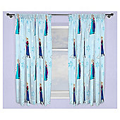 Disney Frozen Lights Pencil Pleat Curtains, Blue (54 x 66'')