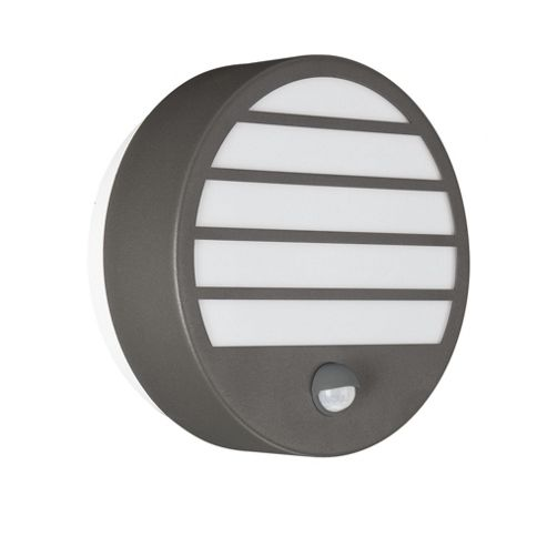 Buy Massive Linz One Light Outdoor Circular Wall Lantern with PIR - Anthracite from our Wall ...