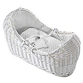 Isabella Alicia White Izzy-Pod Moses Basket (Dimple White)