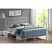 Omero 5FT King Metal Bed Frame with Sprung Slatted Base